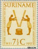 Suriname SU 318  1955 Vergadering Caribbean Tourist Association 7½ cent  Gestempeld