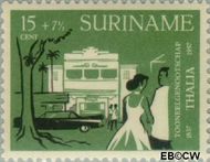 Suriname SU 328  1958 Toneelgezelschap Thalia 15+7½ cent  Gestempeld