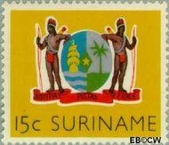 Suriname SU 348  1959 Statuut voor het Koninkrijk 20 cent  Gestempeld
