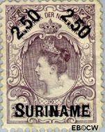 Suriname SU 36  1900 Hulpuitgifte 250 op 250 cent  Gestempeld