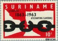 Suriname SU 396  1963 Afschaffing slavernij 10 cent  Gestempeld