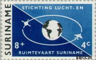 Suriname SU 406  1964 Stichting Lucht- en Ruimtevaart 8+4 cent  Gestempeld