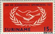 Suriname SU 426  1965 Internationaal Samenwerkingsjaar 15 cent  Gestempeld