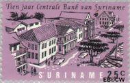 Suriname SU 476  1967 Centrale bank 25 cent  Gestempeld