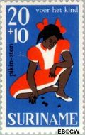 Suriname SU 486  1967 Kinderspelen 20+10 cent  Gestempeld