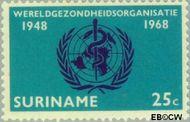 Suriname SU 496  1968 World Health Organisation 25 cent  Gestempeld
