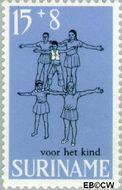 Suriname SU 506  1968 Kinderspelen 15+8 cent  Gestempeld