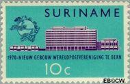 Suriname SU 536  1970 Nieuwe gebouw U.P.U. 10 cent  Gestempeld