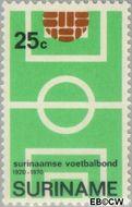 Suriname SU 546  1970 Surinaamse Voetbalbond 25 cent  Gestempeld
