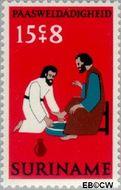 Suriname SU 596  1973 Paassymbolen 15+8 cent  Gestempeld
