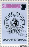 Suriname SU 606  1973 Interpol 30 cent  Gestempeld