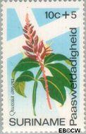 Suriname SU 616  1974 Bloemen 10+5 cent  Gestempeld