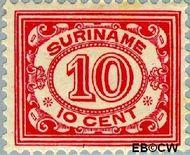 Suriname SU 86  1913 Drukwerkzegel 10 cent  Gestempeld