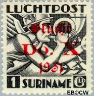 Suriname SU LP13  1930 DO. X vlucht 100 cent  Gestempeld