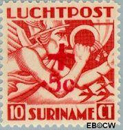 Suriname SU LP23  1942 Opdruk 10+5 cent  Gestempeld
