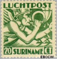 Suriname SU LP3  1930 Mercurius 20 cent  Gestempeld