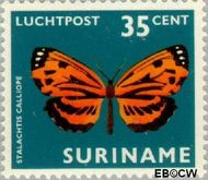 Suriname SU LP51  1972 Vlinders 35 cent  Gestempeld