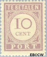 Suriname SU PT22  1913 Port 10 cent  Gestempeld