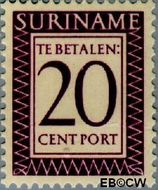 Suriname SU PT42  1950 Port 20 cent  Gestempeld