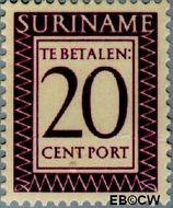 Suriname SU PT42  1950 Port 20 cent  Gestempeld