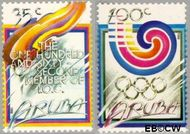 Aruba AR 49#50  1988 Olympische Spelen- Seoul  cent  Postfris
