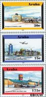Aruba AR 278#280  2001 Luchthaven  cent  Postfris