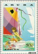 Aruba AR 125  1993 Zeilen 50 cent  Gestempeld