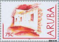 Aruba AR 296  2003 Lemen huisjes 75 cent  Gestempeld