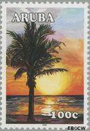 Aruba AR 341  2005 Zonsondergang 100 cent  Gestempeld