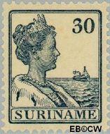 Suriname SU 97  1915 Scheepjes-type 30 cent  Gestempeld