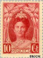 Suriname SU 118  1927 Gewijzigd jubileum-type 10 cent  Gestempeld