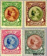 Nederland NL 45#48  1893 Koningin Wilhelmina- 'Hangend haar'  cent  Gestempeld