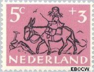 Nederland NL 597  1952 Kind en dier 5+3 cent  Gestempeld