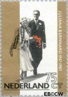 Nederland NL 1367  1987 Koningin Juliana- Huwelijksjubileum 75 cent  Gestempeld
