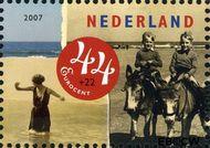Nederland NL 2497b  2007 Strandpret toen en nu 44+22 cent  Gestempeld
