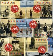 Nederland NL 2497a#2498c  2007 Strandpret toen en nu  cent  Gestempeld