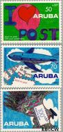 Aruba AR 113#115  1992 Postverkeer  cent  Gestempeld