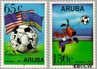 Aruba AR 142#143  1994 WK Voetbal  cent  Gestempeld