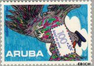 Aruba AR 115  1992 Postverkeer 100+50 cent  Gestempeld