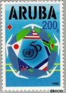 Aruba AR 155  1995 Verenigde Naties 200 cent  Gestempeld