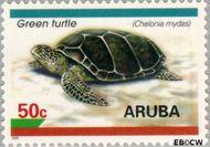 Aruba AR 165  1995 Schildpadden 50 cent  Gestempeld