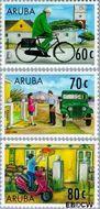 Aruba AR 190#192  1997 Postdienst  cent  Postfris