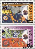 Aruba AR 232#233  1999 Culturele diversiteit  cent  Gestempeld