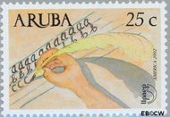 Aruba AR 286  2002 UPAEP 2002 25 cent  Gestempeld