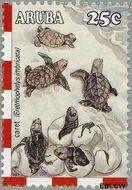 Aruba AR 306  2003 Schildpadden 25 cent  Gestempeld