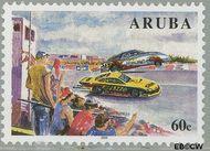 Aruba AR 336  2005 Autoracen 60 cent  Gestempeld