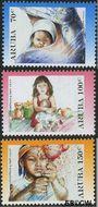 Aruba AR 381#383  2007 Kerst en nieuwjaar  cent  Gestempeld