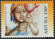 Aruba AR 383  2007 Kerst en nieuwjaar 150 cent  Gestempeld