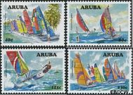 Aruba AR 384#387  2007 Catamaran regatta  cent  Postfris