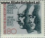Bundesrepublik BRD 1147#  1982 Max Born en James Franck  Postfris